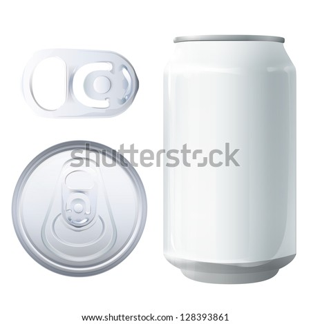Can and elements. Vector design. - stock vector