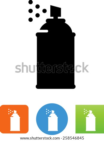Can of spray paint, symbol for download. Vector icons for video, mobile apps, Web sites and print projects.  - stock vector