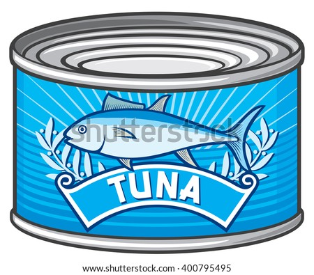can of tuna  - stock vector
