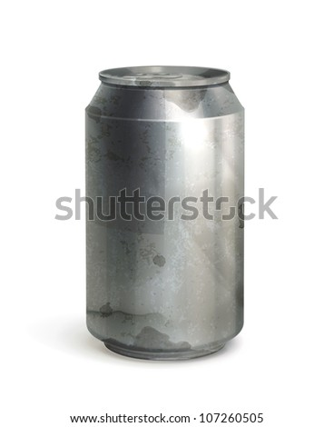 Can, old-style vector isolated - stock vector