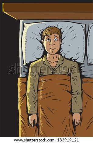 Can't sleep - stock vector