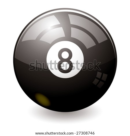 Can the eight ball tell the future maybe this one can - stock vector