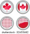 Canada Buttons for 1st of July - stock photo