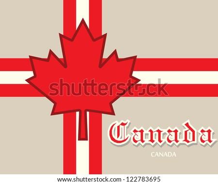 canada card concept - stock vector