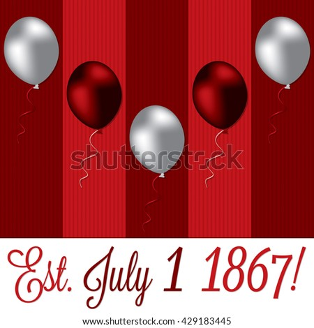 Canada Day card in vector format. - stock vector