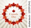 Canada Day vector background - stock vector