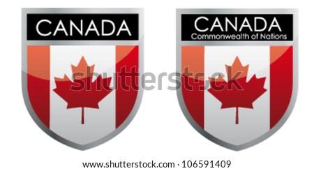Canada flag emblem - stock vector