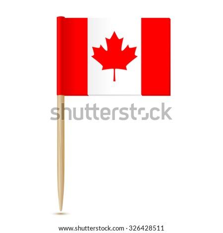 Canada flag. Flag toothpick 10eps - stock vector