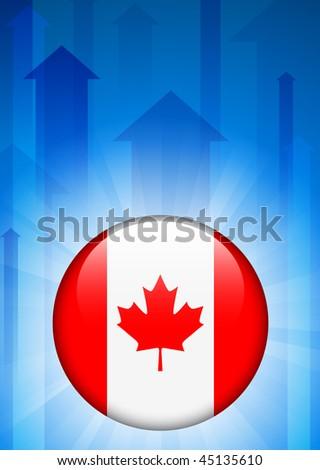 Canada Flag Icon on Internet Button Original Vector Illustration - stock vector