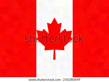 Canada flag on a triangle background. Design. Vector illustration. - stock vector