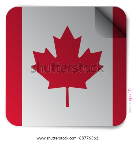 Canada flag vector on white background - stock vector
