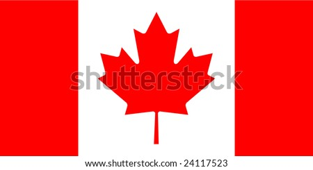 Canada flag with correct dimensions - stock vector