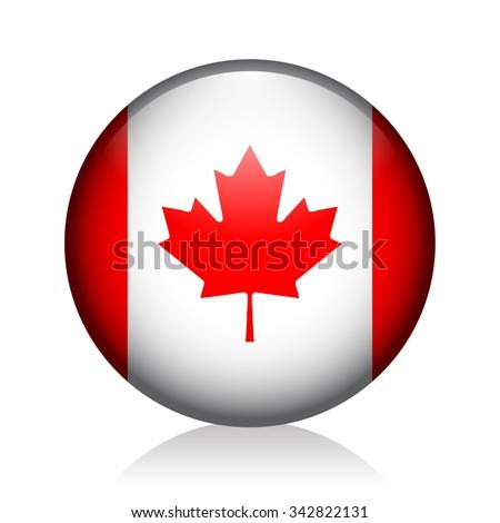 Canada Glossy Icon - stock vector