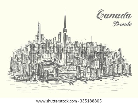 Canada hand drawn style isolated illustration - stock vector