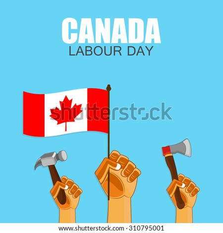 Canada Independence day labor day design. - stock vector