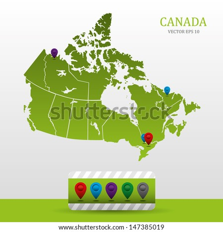 Canada Map - stock vector