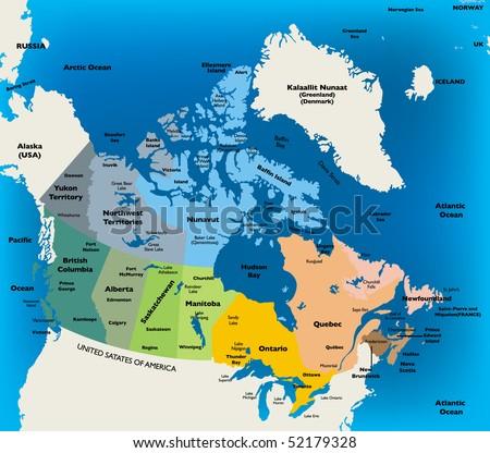 Canada Map - stock vector