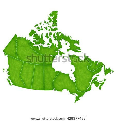Canada map country icon