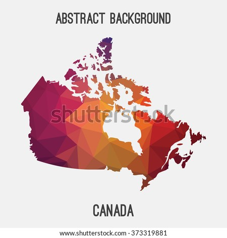 Canada map in geometric polygonal style.Abstract tessellation,modern design background. Vector illustration EPS8 - stock vector