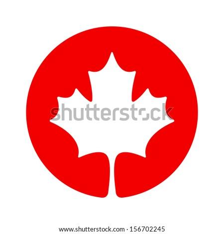 Canada maple icon - stock vector