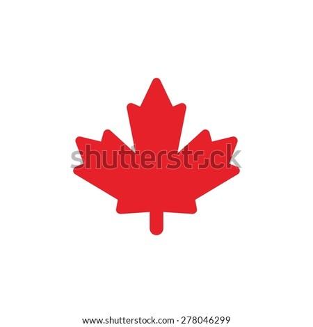 canada maple icon. canadian logo template - stock vector