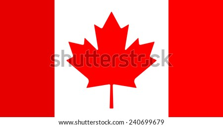 Canadian Flag Vector Icon - stock vector