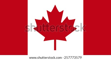 Canadian flag - vector illustration. - stock vector