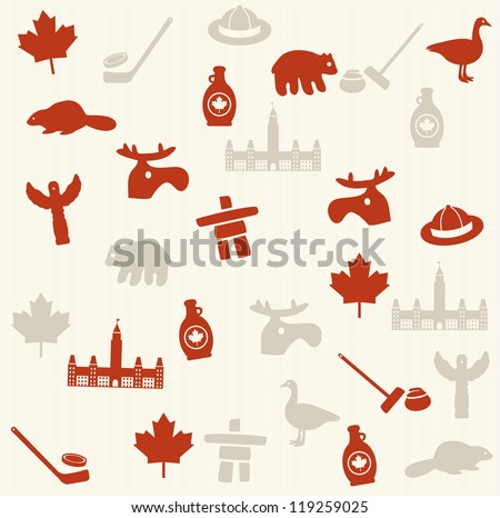 Canadian seamless pattern - stock vector