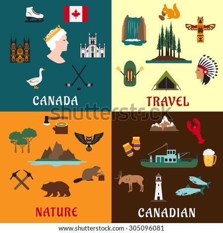 Canadian Culture Symbols Canadian Travel Symbols And