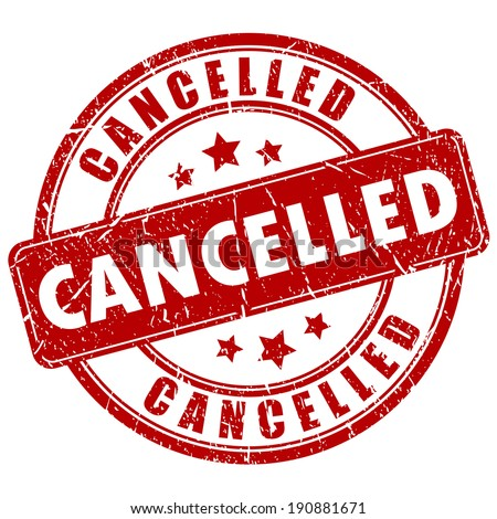 Cancelled vector stamp - stock vector