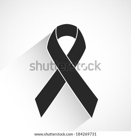 Cancer awareness ribbon vector - stock vector
