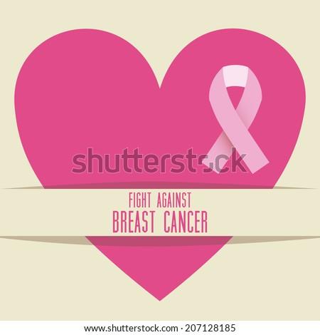 Cancer design over beige background, vector illustration - stock vector