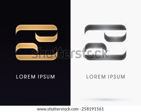 Cancer ,Luxury Zodiac sign, designed using gold line color, logo, symbol, icon, graphic, vector. - stock vector