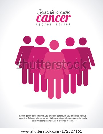 cancer over gray  background vector illustration - stock vector