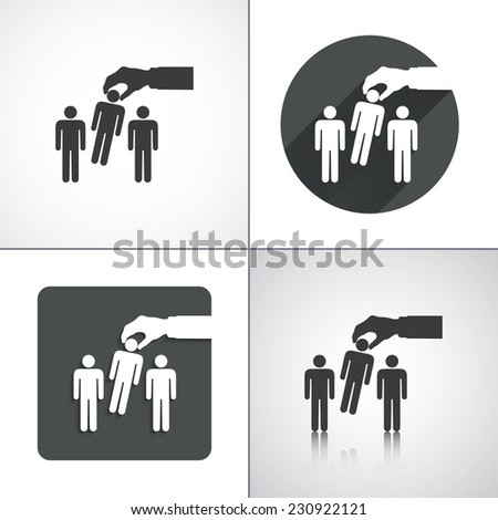 Candidate for the job icons. Set elements for design. Vector illustration - stock vector