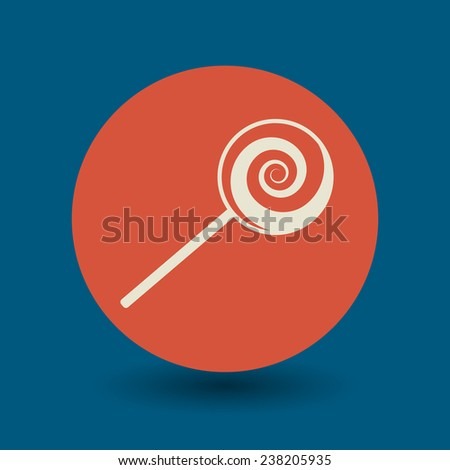 Candies icon or sign, vector illustration - stock vector
