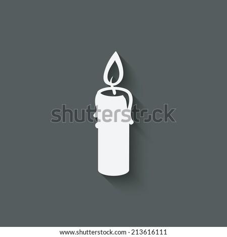 candle design element - vector illustration. eps 10 - stock vector
