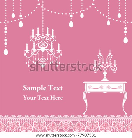 Candle frame. Illustration vector - stock vector
