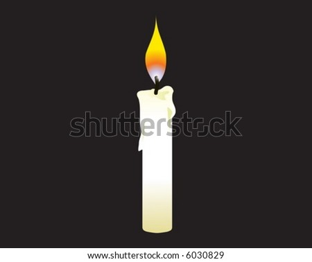 candle in the dark - stock vector