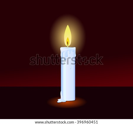 Candle in the dark vector illustration