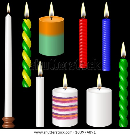 Candles - stock vector
