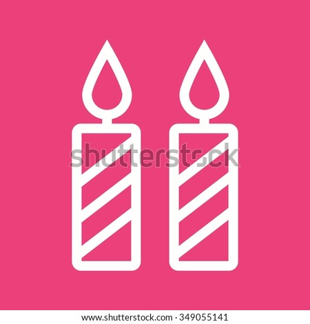 Stock vector seamless pattern of purple and pink watercolor hearts on - Christmas Candle Icon Candle Doodle Candle Stock Vector