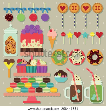 candy bar for the party - stock vector