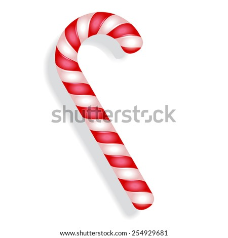 Candy canes realistic peppermint colorful vector - stock vector
