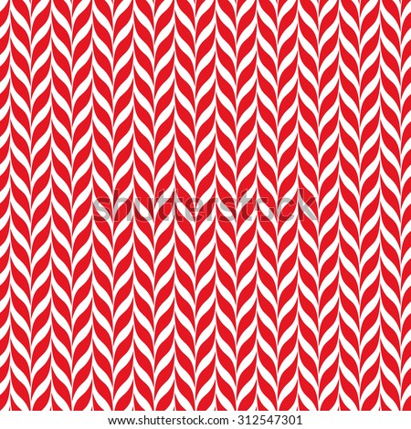 Candy canes vector background. Seamless xmas pattern with red and white candy cane stripes. Cute winter holiday background. - stock vector