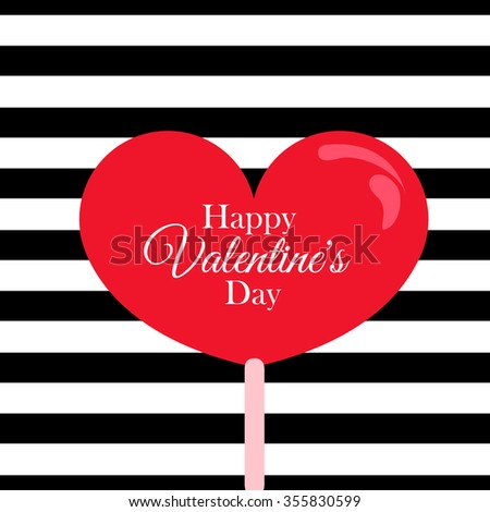 candy heart card.valentine's day. eps 10  - stock vector