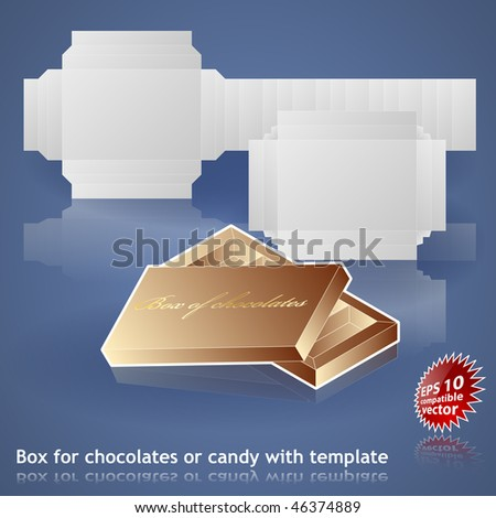 Candy or chocolate box template - stock vector