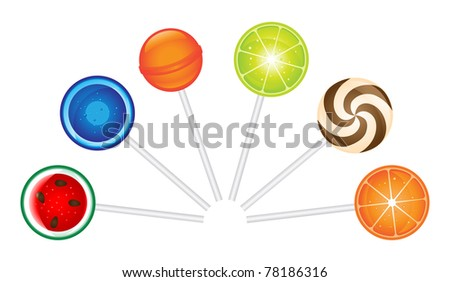 Candy set - stock vector