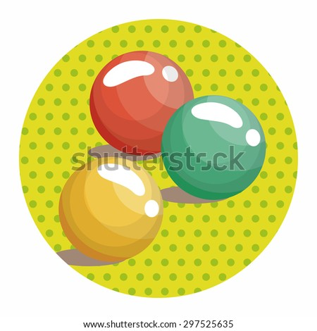 candy theme elements - stock vector