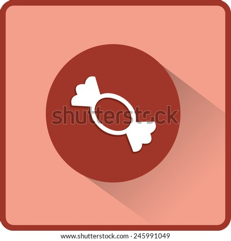 Candy vector flat icon - stock vector